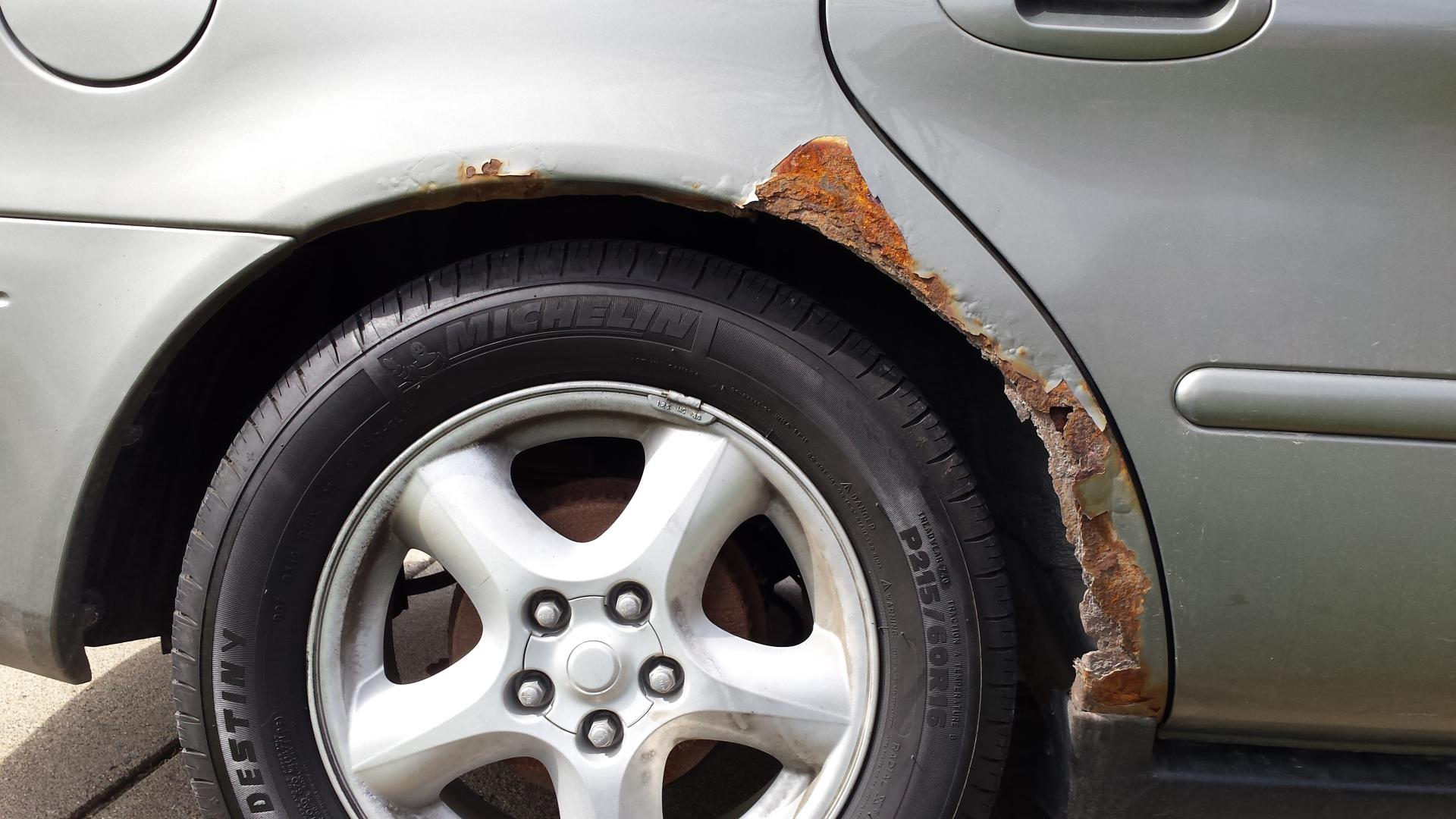 How To Repair Rust On Car Wheel Arches